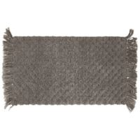 "Arta Beaded 20"" x 34"" Bath Rug in Charcoal"