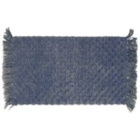 "Arta Beaded 20"" x 34"" Bath Rug in Indigo"