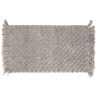 "Arta Beaded 20"" x 34"" Bath Rug in Dove Grey"