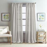Rose Garden Solid 108-Inch Rod Pocket Window Curtain Panel in Grey