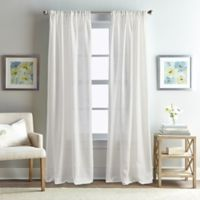 Rose Garden Solid 108-Inch Rod Pocket Window Curtain Panel in White