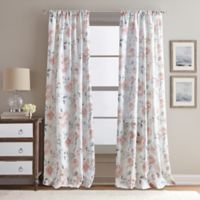 Rose Garden Print 108-Inch Rod Pocket Window Curtain Panel in Blush