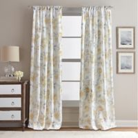 Rose Garden Print 108-Inch Rod Pocket Window Curtain Panel in Butter