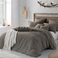Swift Home Crinkle Pre-washed Microfiber King/California King Duvet Cover Set in Driftwood
