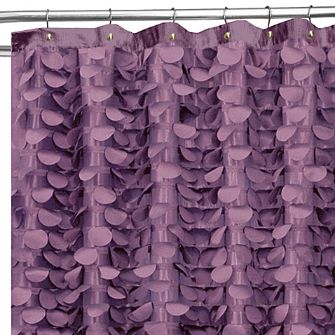 Gigi 72-Inch x 72-Inch Shower Curtain in Purple - Bed Bath & Beyond