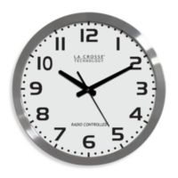 La Crosse Technology 16-Inch Atomic Wall Clock with White Dial