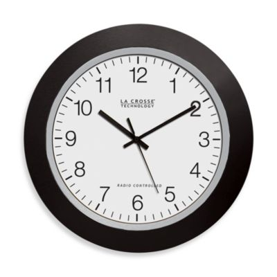 large office wall clocks. la crosse technology atomic wall clock with black frame large office clocks w