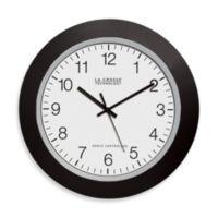 La Crosse Technology Atomic Wall Clock With Black Frame