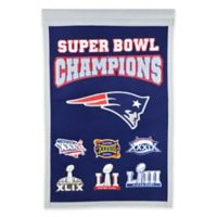 NFL New England Patriots Super Bowl LIII Champions Commemorative Banner in Navy