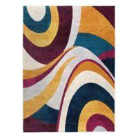 Home Dynamix Tribeca Swirls 5-Foot 2-Inch x 7-Foot 2-Inch Area Rug in Purple/Multi