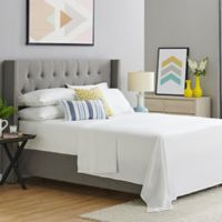 400-Thread-Count Organic Cotton Queen Sheet Set in White