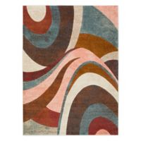 Home Dynamix Tribeca Swirl 5-Foot 2-Inch x 7-Foot 2-Inch Area Rug in Brown/Multi
