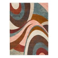 Home Dynamix Tribeca Swirl 9-Foot 2-Inch x 12-Foot 5-Inch Area Rug in Brown/Multi