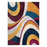 Home Dynamix Tribeca Swirls 7-Foot 10-Inch x 10-Foot 6-Inch Area Rug in Purple/Multi