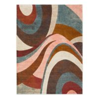 Home Dynamix Tribeca Swirls 7-Foot 10-Inch x 10-Foot 6-Inch Area Rug in Brown/Multi