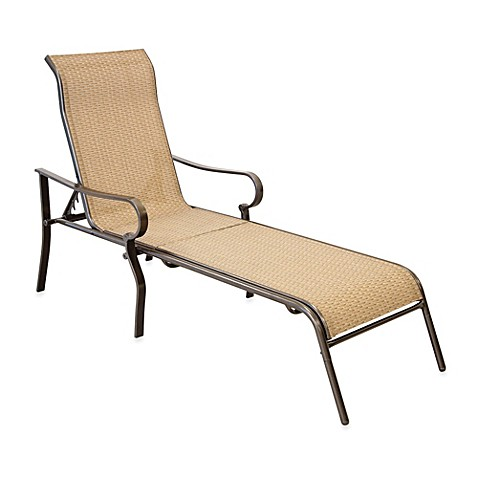 Hawthorne oversized adjustable sling chaise lounge bed for Bathroom chaise lounge