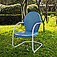 Griffith Metal Chair in Sky Blue Finish