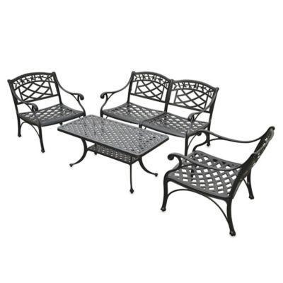 Crosley Sedona 4-Piece Conversation Set in Black - Buy Crosley Patio Furniture From Bed Bath & Beyond