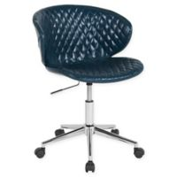 Flash Furniture Vinyl Swivel Cambridge Office Chair in Blue