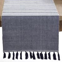 Saro Lifestyle Bellaria 72-Inch Table Runner in Navy
