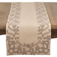 Saro Lifestyle Alannah Floral 72-Inch Table Runner in Natural
