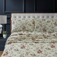 Tribeca Living Dollhouse Floral Flannel Deep-Pocket Full Sheet Set
