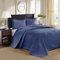 Madison Park Quebec King Bedspread Set in Navy