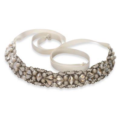 MEG Jewelry Silver Swarovski Crystal Malena Headband Bed Bath