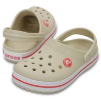Crocs™ Crocband™ Size 4 Kid's Clog in Stucco/Melon