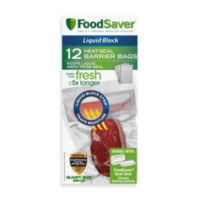 FoodSaver® qt. Size 12-Bag Pack Liquid Block Heat-Seal Barrier Bags