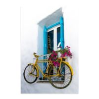 Christopher Knight Collection® Bicycle Window 27-Inch x 36-Inch Canvas Wall Art