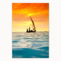 Christopher Knight Collection Sunset Sail 27-Inch x 36-Inch Canvas Wall Art
