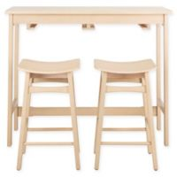 Safavieh Colbie 3-Piece Pub Set in White Oak