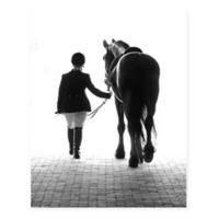 Christopher Knight Collection A Girl and Her Horse 18-Inch x 24-Inch Wrapped Canvas Wall Art