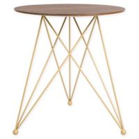 Elle Decor® Livvy Side Table in Sienna/Gold