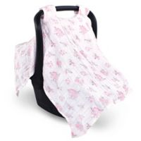 Hudson Baby® Muslin Car Seat Canopy in Pastel Floral
