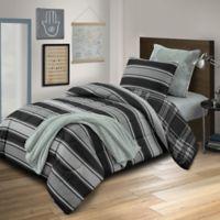 Dexter Reversible Full Comforter Set in Grey