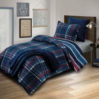 Dexter Reversible Full Comforter Set in Navy
