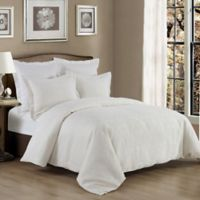HiEnd Accents Matelasse Reversible Queen Coverlet Set in White