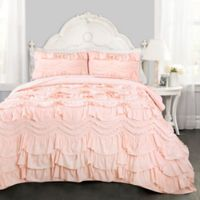 Lush Decor Kemmy 2-Piece Twin Reversible Quilt Set in Blush