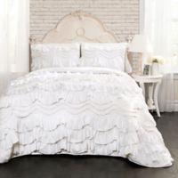 Lush Decor Kemmy 3-Piece King Reversible Quilt Set in White