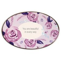 Precious Moments® Floral Oval Trinket Tray