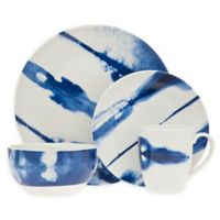 Godinger Cielo 16-Piece Dinnerware Set in Blue/White