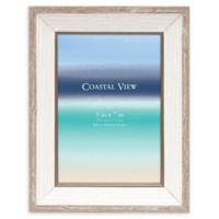 Coastal View 5-Inch x 7-Inch Plastic Frame in Two-Tone White