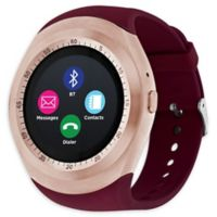 iTouch Curve 45mm Smartwatch in Merlot/Rose Gold