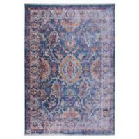 """Artisan by Nicole Miller Border 5'3"""" x 7'9"""" Area Rug in Blue/Ivory"""
