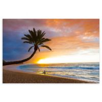 Christopher Knight Collection Sunset Beach 18-Inch x 24-Inch Canvas Wall Art
