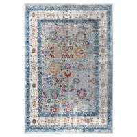 """Artisan by Nicole Miller Abstract Floral 7'10"""" x 10'2"""" Area Rug in Blue/Ivory"""