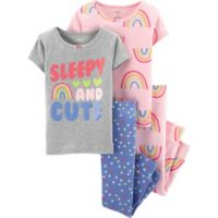 "carter's® Size 18M 4-Piece ""Sleepy and Cute"" Pajama Set in Grey"