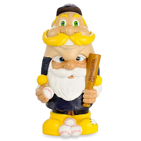 MLB Milwaukee Brewers Mad Hatter Garden Gnome